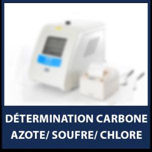 Détermination Carbone/Azote/Soufre/Chlore