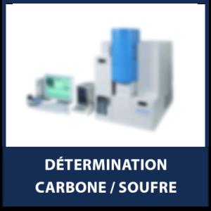 Détermination Carbone/Soufre