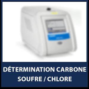 Détermination Carbone/Soufre/Chlore
