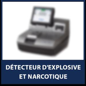 Détecteur d'explosive et narcotique